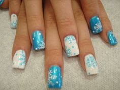 snow flake nails
