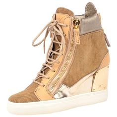 Giuseppe Zanotti Wedge Sneaker ($895) ❤ liked on Polyvore