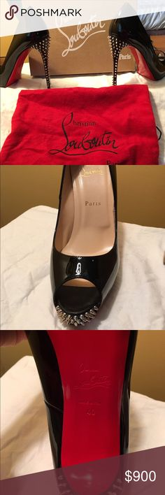 Christian Loubitin shoes Barely worn like new in box with receipt. Christian Louboutin Shoes Platforms