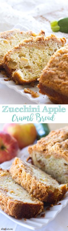 This easy zucchini apple crumb bread recipe is the perfect fall dessert! Filled…