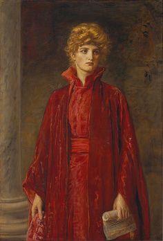Portia (1886) by John Everett Millais (1829–1896). Oil on canvas. Metropolitan Museum of Artvia Wikimedia.