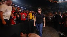 Dean beats Rollins all round the arena! #WWENOC pic.twitter.com/GRnVzIN0TR