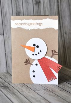 Crafting ideas from Sizzix UK: Do you want to build a snowman? Crafting ideas from Sizzix UK: Do you want to build a snowman? Christmas Card Crafts, Homemade Christmas Cards, Christmas Cards To Make, Kids Christmas, Homemade Cards, Handmade Christmas, Holiday Cards, Christmas Decorations, Natural Christmas