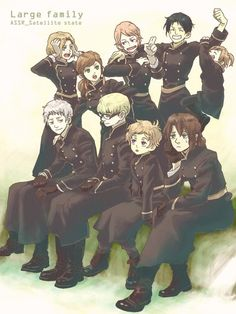Axis Powers Hetalia (Poland Prussia Hungary Romania Bulgaria Moldova Estonia Latvia Lithuania) Euro Family