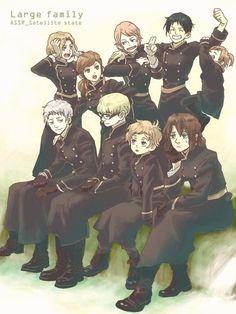 Axis Powers Hetalia Poland Prussia Hungary Romania Bulgaria Moldova Estonia Latvia Lithuania