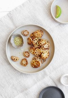 Lotus Root Chips with Matcha Salt