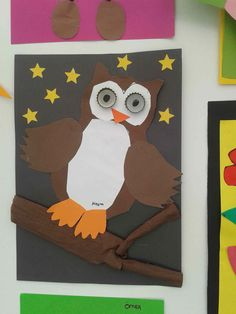 Owl craft idea for kids crafts and worksheets for preschool, Owl Crafts, Crafts For Kids, Fall Preschool, Preschool Projects, Art Nouveau, Farm Unit, Cute Pins, Healthy Snacks For Kids, Vintage Design