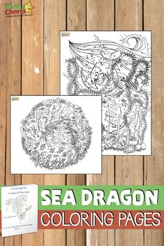This is a gorgeous colouring book from Lucinda, with some simply stunning illustrations that are perfect for kids, and adults alike to colour in. Sea dragon coloring page Coloring Pages For Grown Ups, Heart Coloring Pages, Dragon Coloring Page, Quote Coloring Pages, Animal Coloring Pages, Free Coloring Pages, Printable Coloring Pages, Coloring Sheets, Colouring