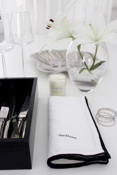 Tine k home | black and white napkin
