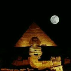 Night moon in pyramids /Egypt