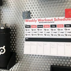 Peloton Milestone Tracker and Workout Planner Sheets (Red and Black)