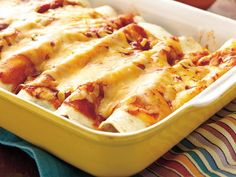 Spinach and Beef Enchiladas (another yummy ground beef recipe!!)