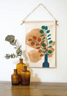 Silver Dollar Mini Wall Hanging – Home Dweller Fabric Wall Decor, Wall Decor Design, Mini Canvas, Love Home, Silver Dollar, Wall Hangings, Colours