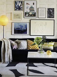 Grafisk elegans. Inred med konst och bilder. Skapa en egen tavelvägg!