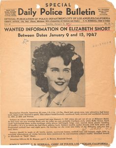 "1947: ""The Black Dahlia"" murder"