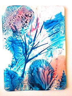 Энкаустика цветы