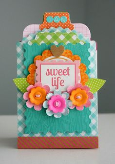 Doodlebug Designs Kraft in Color: Sweet Life Pocket Organizer by Shellye McDaniel.