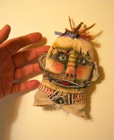 monster doll headooak art doll head creepy by sandymastroni