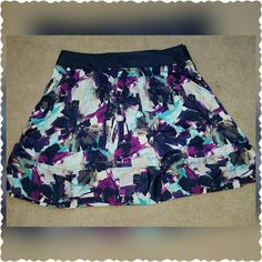 Apostrophe A-line Skirt Gorgeous Apostrophe A-line Skirt sz 22. This skirt has only been worn once, looks brand new!! Has a zippered side, 2 front pockets, very silky and soft! Apostrophe Skirts A-Line or Full