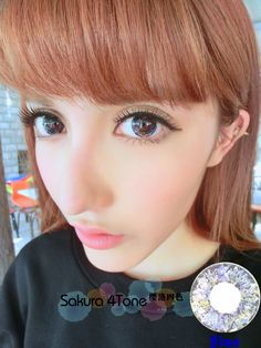 Korean Unique Women Circle Contact Lens Makeup Colors Melody Blue