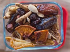 Dried fruit, nuts, sesame sticks and crackers make this Napa 'Road' Mix a chewy and crunchy choice that's easy to package and store.