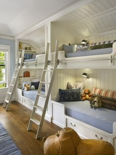 Love these bunk beds for children!