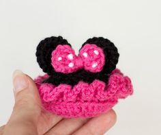 Minnie-Inspired Crochet Baby Booties