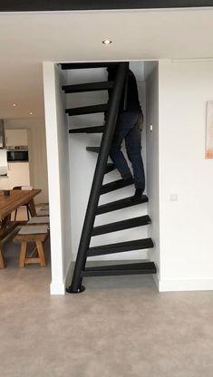 Home Stairs Design, Home Room Design, Door Design, Interior Design Kitchen, Small Space Stairs Design, Spiral Stairs Design, Staircase Design Modern, Stair Design, Kitchen Decor