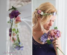Blumenkranz, Haarband, Blumenkrone *Spätsommer* von Julmond auf DaWanda.com