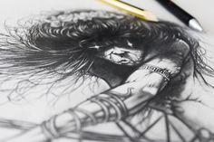 Manual drawing (pencil) - (266mm×275mm) / Rysunek (ołówek) - format 266mm×275mm