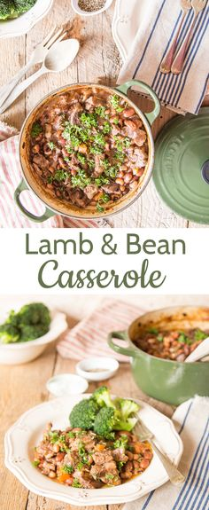 A lightly spiced lamb and bean one pot casserole. Peasant food at its finest!