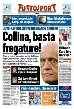 Rassegna stampa Italia: l'Inter vince sotto gli occhi di Mourinho e Ronaldo - http://www.maidirecalcio.com/2016/02/21/rassegna-stampa-italia-33.html