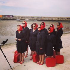 The wonderful Red Ladies in Margate
