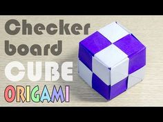 Origami Modular Cube-2 : Checkerboard Pattern module Hexahedron - YouTube