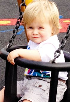 Theo Horan has all the little impish smirks of a future troublemaker. He's so adorable!