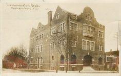 Hoopeston-Illinois-Commercial-Club-1910-Sepia-Real-Photo-Postcard