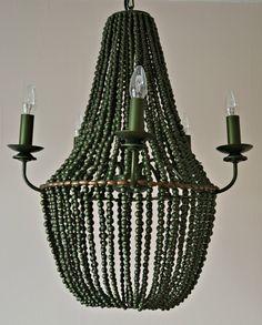 Beaded Chandelier by DKhome on Etsy https://www.etsy.com/listing/260544479/beaded-chandelier