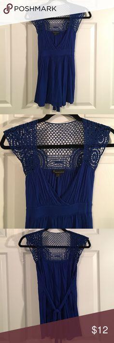 Beautiful lapis blue crochet top Beautiful lapis blue crochet top Tops Blouses
