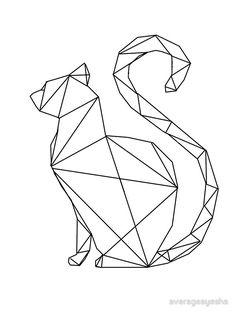 """Résultat de recherche d'images pour """"geometric cat"""""""