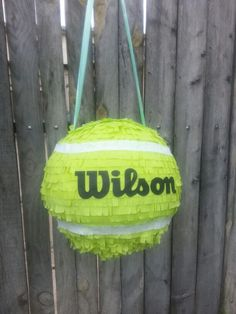 Piñatas~ tennis ball Piñata - Yes I made this one for Dad's 70th!
