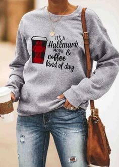 Plaid It's A Hallmark Movie & Coffee Sweatshirt. If you love Hallmark Christmas Movies you will NEED this Hallmark Christmas Movie Watching Socks SVG file! Spend your Christmas in comfort and style in this cute and fun sweatshirt. Big Discount and Limited Time ONLY! #socks #hallmarkchristmasmovies #hallmarksvg #hallmarksweatshirt #christmasgifts #hallmarkgifts