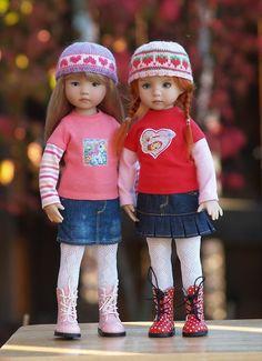 """""""Colvin"""" Skirts Two-Pack for 13"""" Effner Little Darling Studio Dolls"""