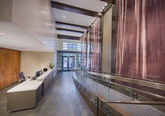 Come home to an expansive lobby with a two-story cascading water feature when you live at Flats at Bethesda Avenue
