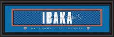 "Oklahoma City Thunder Serge Ibaka Print - Signature 8""x24"""