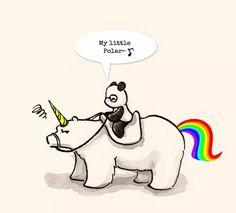 Polar Bear Cartoon, Cute Panda Cartoon, Panda Love, Love Bear, Amor Ideas, Cute Panda Drawing, Baby Animals, Cute Animals, Baby Panda Bears