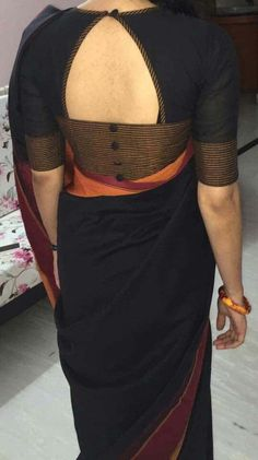 Blouse Designs Pattern With Back & Neck Designer Saree Blouses: Blouse is one of the most essential things that every women looks before wearing saree. Designer Blouse Designs highlight the appear Simple Blouse Designs, Stylish Blouse Design, Blouse Back Neck Designs, Fancy Blouse Designs, Saree Blouse Neck Designs, Blouse Simple, Pattern Blouses For Sarees, Designer Saree Blouses, Blouse Neck Patterns