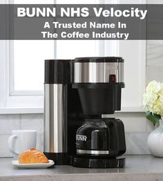 BUNN NHS Velocity Brew Home Coffee Brewer - With BUNN Speed Brew Technology, making great tasting coffee is not only fast, but simple. After the one time initial set-up process, simply add your favorite coffee to the filter basket, pour in fres. Coffee Brewer, Espresso Coffee, Best Drip Coffee Maker, Bunn Coffee, Coffee Maker Reviews, Best Espresso Machine, Coffee Type, Coffeemaker, Stainless Steel
