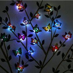 30th Birthday Ideas For Women, Ideas Scrapbook, Sensory Lights, Butterfly Bedroom, Butterfly Lighting, Decoration Stickers, 3d Butterfly Wall Stickers, 3d Butterfly Wall Decor, Butterfly Shape