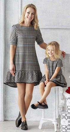72ac20d915 фото 1 Платье трапеция-клетка Mother Daughter Fashion, Mother Daughter  Matching Outfits, Mommy