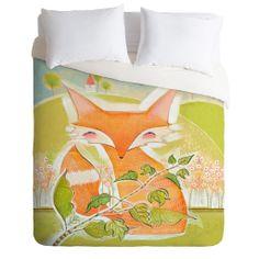 Little Fox Lightweight Duvet Cover Little Fox, Fox Design, Linen Bedding, Bed Linen, Girl Room, Child's Room, Luxurious Bedrooms, Home Decor Accessories, Luxury Bedding
